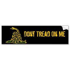 Dont Tread On Me Black Gadsden Bumper Sticker
