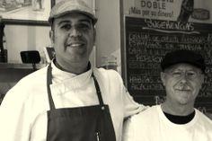 Happy chefs at Casa Guinart on la Rambla -Barcelona.