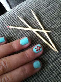 Simple and easy way to add a little sparkle and something different to your plain nails using only toothpicks.