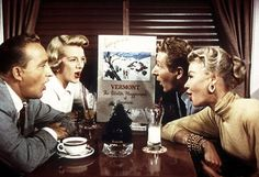 """Bing Crosby, Rosemary Clooney, Danny Kaye and Vera Ellen sing """"Snow"""" in White Christmas. one of the best movies ever made White Christmas Movie, Christmas Star, Christmas Music, Vintage Christmas, Christmas Scenes, Christmas Images, Merry Christmas, Christmas Shows, Christmas Train"""