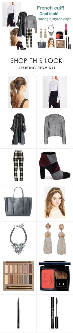 """""""For Scarlett (friend) - Scarlett's ideal wardrobe by me: #426: French cuff!"""" by sarah-m-smith ❤ liked on Polyvore featuring France Luxe, Nina Ricci, Prada, T By Alexander Wang, MaxMara, Roberto Festa, Lanvin, Humble Chic, Urban Decay and Christian Dior"""