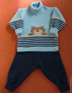 Ravelry: Penguin Pullover Pattern By Gai - Diy Crafts - Qoster Baby Cardigan Knitting Pattern Free, Baby Boy Knitting Patterns, Crochet Baby Dress Pattern, Baby Dress Patterns, Knitting For Kids, Baby Boy Sweater, Baby Sweaters, Crochet For Boys, Knit Fashion