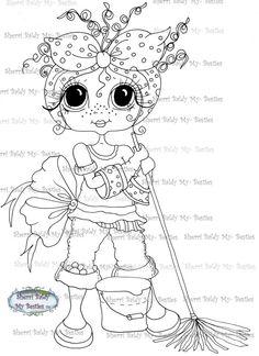 Faça o Download Digital Digi selos Olho grande Big Head Dolls Digi Daisy Do All dia de limpeza por Sherri Baldy