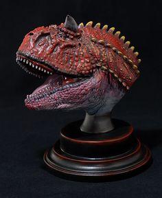 ed13b496 Carnotaurus Bust Sculpture   Jurassic Park Fans   Hand Sculpted Dinosaur    Collectible Decor   Gift for Him   Art Piece Paleoart