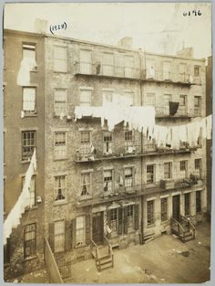 Rear View of Tenement Houses - Community Service Society Photographs Vintage Photographs, Vintage Photos, Antique Photos, Old Pictures, Old Photos, New York City Pictures, Lower East Side, Vintage New York, Lower Manhattan