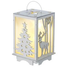 Heaven Sends Wooden Light Up Led Lantern Christmas Xmas Reindeer Decoration Home #ebay #Home & Garden