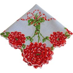 Vintage Christmas Hanky Hankie - Not necessarily a Christmas Handkerchief.