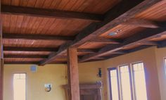 Column wraps, beams and ceiling. (finish not complete)