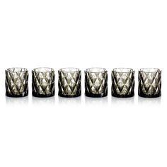 Glas-Set, 6-tlg., diamantenförmiges Design, Glas Vorderansicht