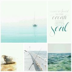 I lost my heart to the ocean.. #moodboard #mosaic #collage #inspirationboard #byJeetje♡