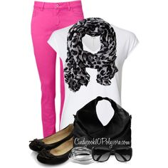 Hot Pink Skinny Jeans :)