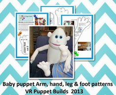 VR Puppet Builds: Baby hand and feet tutorials and pattern info