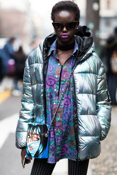 Street style à la Fashion Week automne-hiver 2018-2019 de Milan  Photo par Sandra Semburg