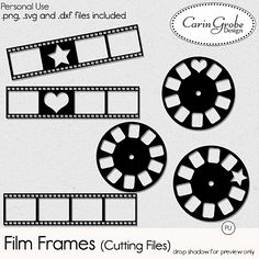 Film Frames (cutting files) - Available at #theStudio #CarinGrobeDesign