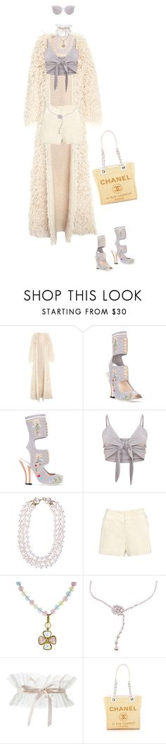 """""""Untitled #848"""" by diaval ❤ liked on Polyvore featuring Fendi, Chanel, Alice + Olivia and Matthew Williamson"""