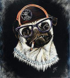 PUG LIFE SCRATCHBOARD PRINT  You didn't choose the pug life, the pug life chose you  by:  CREATIVE SCRATCHINGS