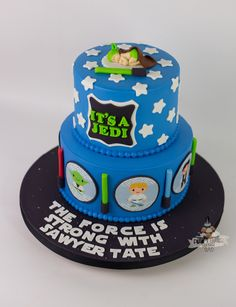 Charming Star Wars Baby Shower Cake