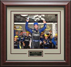 Jimmie Johnson 2013 Coca Cola Zero 400 Champion Framed Photo