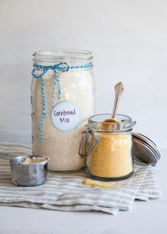 "Whether you need a quick side to go along with a lunch salad or something warm and tasty to bring along to a BBQ, keeping a jar of this cornbread mix around will always come in handy. Made with only a few, common dry ingredients, this mix is easy to use and even easier to put together. Say ""so long"" to store-bought mixes, and start making your own cornbread mix this summer!"