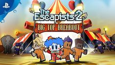 The Escapists 2 - Big Top Breakout Trailer Ps4, Playstation, Breakout Game, The Escapists, Clowning Around, Big Top, Simulation Games, Strategy Games, Free Games