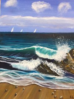 Sailboat Painting, Curls, Waves, Artwork, Outdoor, Animales, Outdoors, Work Of Art, Auguste Rodin Artwork