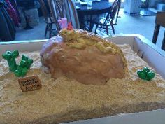 Bearded dragon cake I made for my daughters 7th birthday.