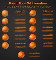 Paint tool SAI brushes (SAI/SAI2) by RequiemSkittles
