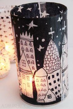 DIY for tissue paper lanterns from Alisa Burke.