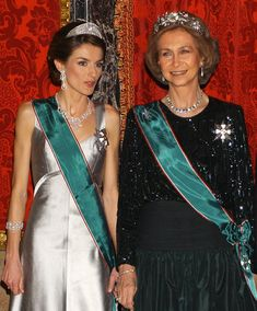 Letizia, Princess of Asturias and her mother-in-law, Queen Sofia of Spain