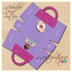 Doc McStuffins Bag - Party Treat Box 2 - Birthday Party or Wedding Treat Box - Printable - DIY - Digital File - INSTANT DOWNLOAD! by Sweetbootique {DIY Party Printables} | Catch My Party