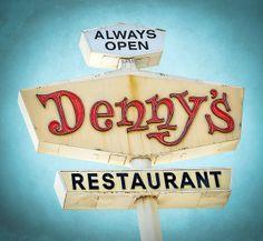 Denny's Restaurant vintage neon sign