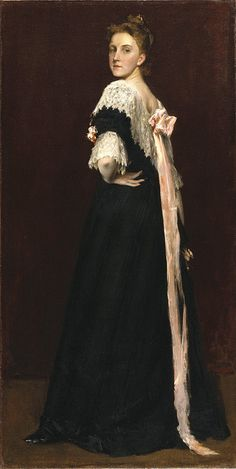 ▴ Artistic Accessories ▴ clothes, jewelry, hats in art - William Merritt Chase | Lydia Field Emmet, 1892