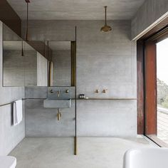 Industrial bathroom design inspiration. Modern + Minimal.