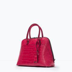 MOCK CROC CITY BAG-Bags-Woman-SHOES & BAGS | ZARA United States (100% POLYURETHANE)