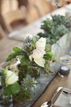 Wedding Ideas: centerpiece-succulent-green