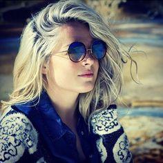 >> Click to Buy << Round Retro 60s/70s Vintage Fashion Metal Women Mirror Gradient Lens SUNGLASSES Acetate Frame 97079 Oculos De Sol European Style #Affiliate