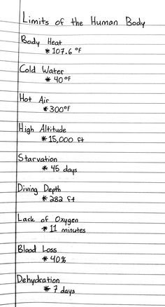 limits of the human body Life Hacks For School, School Study Tips, Nursing School Notes, Medical School, Medicine Student, Biology Lessons, Medical Anatomy, Medical Facts, School Motivation