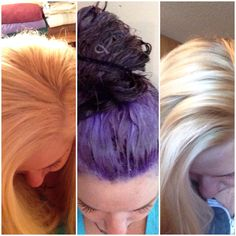 The power of purple toner/purple toning shampoo. I currently use Paul Mitchell platinum blonde purple shampoo & Jerome Russell punky colour toner in #1452, gets all that unwanted brassiness out