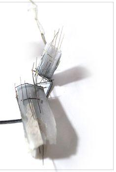 Amy Peace-Buzzard. - 2014. Necklace | Silver, Shibuichi, Silicone and wax.