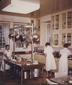 Staff working in the Kitchen at Hillwood
