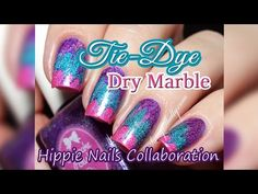 Tie-Dye Hippie Nails