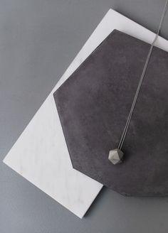 //icosahedron concrete necklace by frauklarer www.frauklarer.com