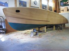 29. PERLITA TOO. Hull rough-faired; test-fitting spray rails.