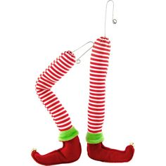 Pair of plush elf legs