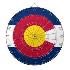 Colorado Flag Dart Board