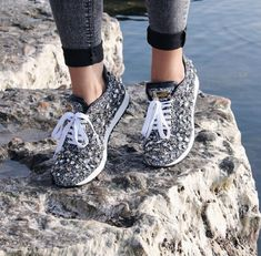 90c0a2cfab45a US $65.0 48% OFF Prova Perfetto New Rhinestones Sneakers Women Shoe Laces  Paillette Spell Color Flat Shoes Ladies Real Leather Causal Shoes Woman-in  Women's ...