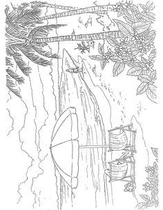 Welcome To Dover Publications Tropical Paradise Scenes Paint Or Color Colouring Pages