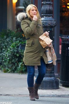 Claire Danes wears Canada Goose's Kensington parka