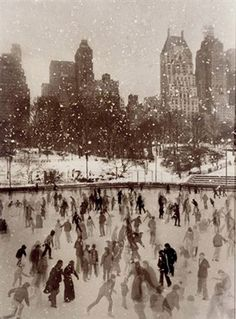 Ice-skating in New York City.