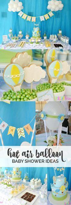 Boy's Hot Air Balloon Party Theme, Adorable!